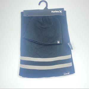 NWT Hurley scarf and beanie bundle